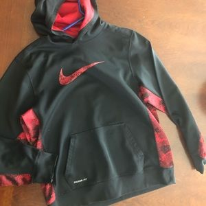 XL Nike Youth Hoodie Boys Black and Red